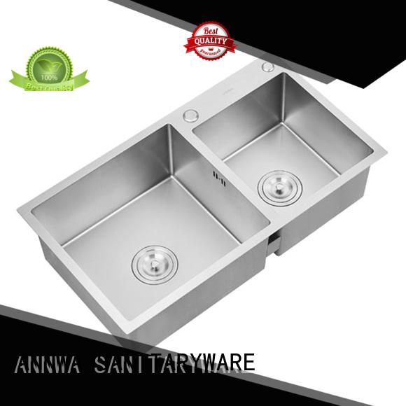 n2sc602 stainless steel double kitchen sink The latest generation household ANNWA SANITARYWARE