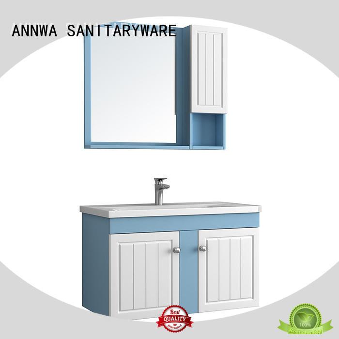 ANNWA SANITARYWARE not crack solid wood bathroom vanity annwawood hotel