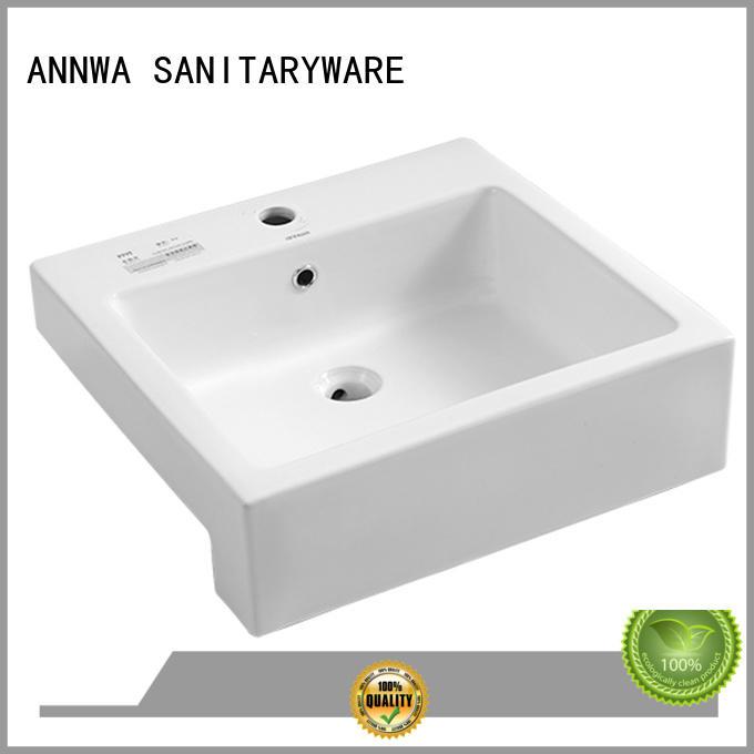 annwa semi recessed sink modern design High-end