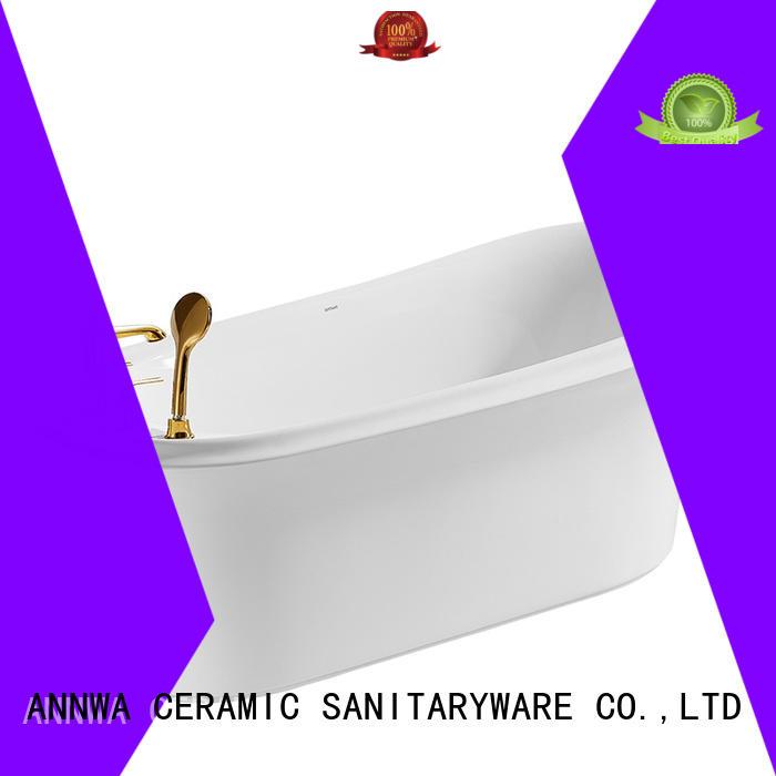 ANNWA SANITARYWARE annwa freestanding acrylic bathtub wear-resistant household