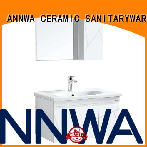 ANNWA SANITARYWARE pvc bathroom cabinet pvc low price Low-end
