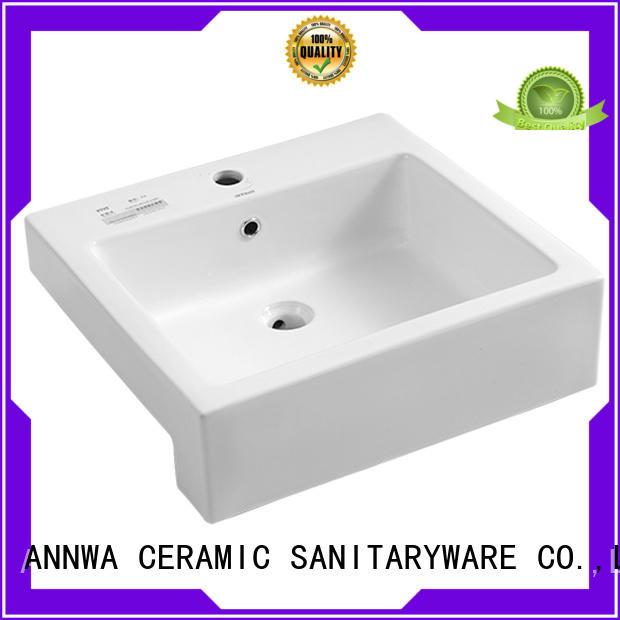 ANNWA SANITARYWARE easy clean semi inset basin annwa One Star Hotel
