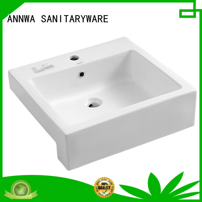 semi inset basin nt37 Fivestar Hotel ANNWA SANITARYWARE
